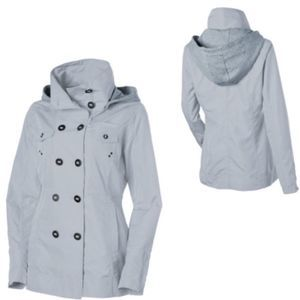 Hurley Winchester Slicker Rain Jacket Gray